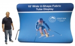 10' U-Tube Tension Fabric + Dye-Sublimation Graphics