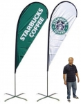 15' Teardrop Flag + Double-Sided Graphics