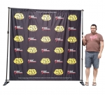 8' Telescopic Backwall (TBW2)   Fabric Print 96*96""