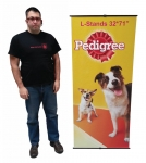 "L-Stand 32*73"" (LH 1) + Printed Banner"