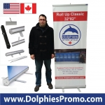 "Roll Up Classic 32*82"" (RC 1) + Printed Banner"