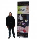 "Roll Up EXTRA TALL 32*96"" (ER 1)   Printed Banner"