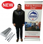 "Roll Up Premium 34*85"" (RP 1) + Printed Banner"
