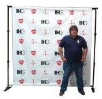 8' Telescopic Backwall (TBW) + Vinyl Print 96*96""