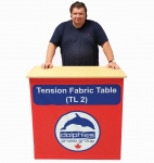 Pop Up Tension Fabric Table (TL 2)   Dye-Sablimation Graphics