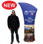 Tube Tension Fabric Tower + Dye-Sublimation Graphics