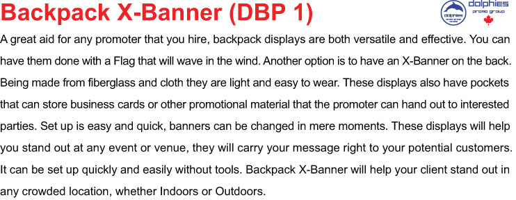 Backpack X Info