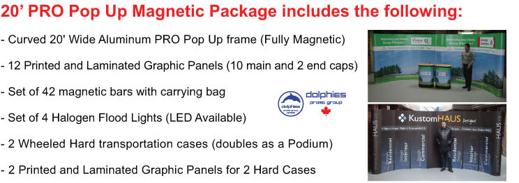 Magnetic Pop Up 20ft Package Info