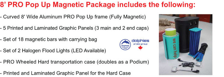 Magnetic Pop Up 8ft Package Info
