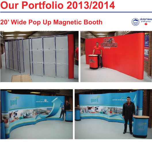 Portfolio Pop Up 20 ft Magnetic 1