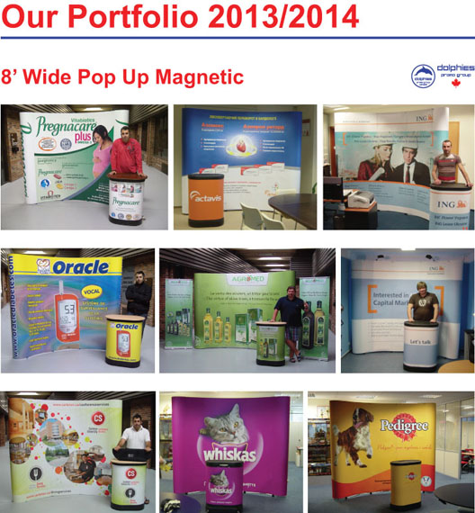 Portfolio Pop Up 8 ft Magnetic 1