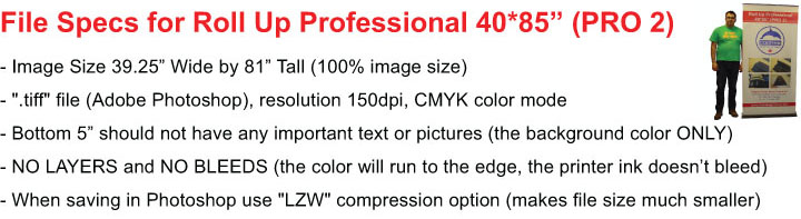 Roll Up PRO 2 File Specs