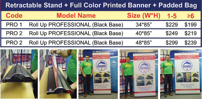 Roll Up PRO with Print Prices