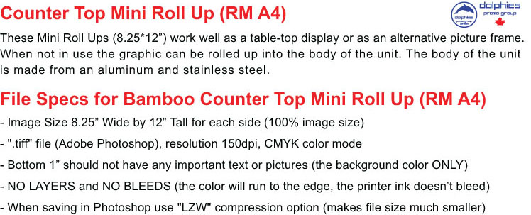 Roll Up RM A4 File Specs