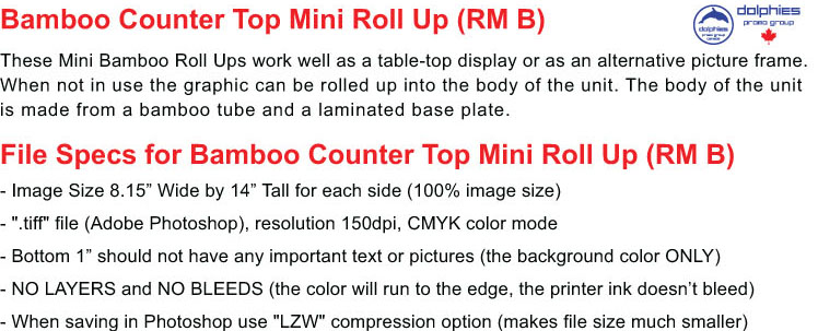 Roll Up RM B File Specs