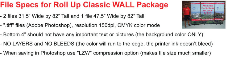 Roll Up Wall File Specs